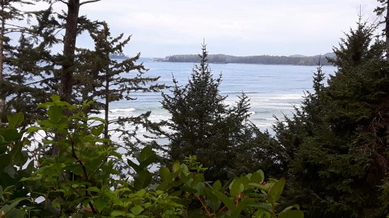 Green Point Campground: View from the trail down to the beach