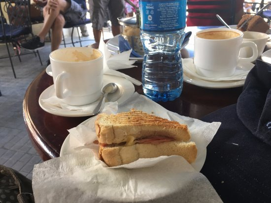 Cafe El Escorial : Coffee and toasted cheese and ham