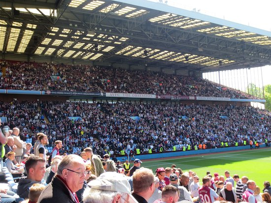 Aston Villa Vs Brighton From Our Seats The Holte End Supporters In The Background Rs Picture Of Villa Park Stadium Birmingham Tripadvisor