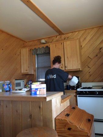 Park Rapids, MN: Cabin kitchen