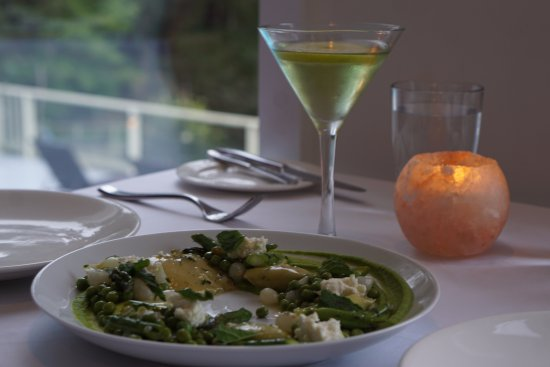 Rockwater Secret Cove Resort : Flavourful spring pea agnolotti