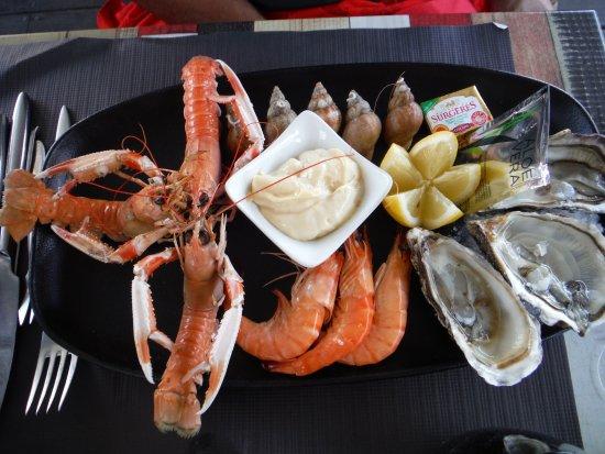 La Cotinière, France : Assiette de fruits de mer
