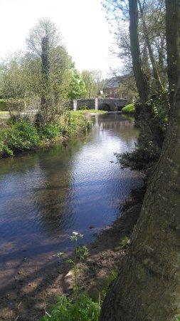 Clun, UK: view towards the road