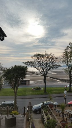 Rhos-on-Sea, UK: View from twin room