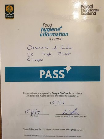 Food Hygiene Information Scheme Pass Certificate By Food