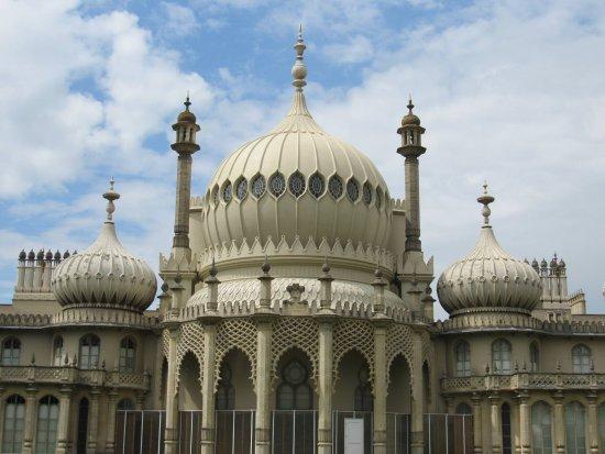 The royal pavilion up close.