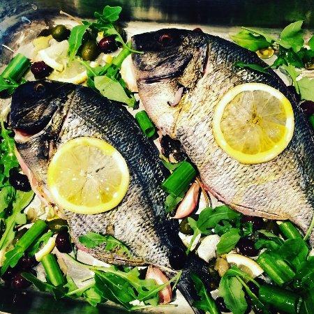 Valbonne, ฝรั่งเศส: Poisson de la pêche du jour - sar