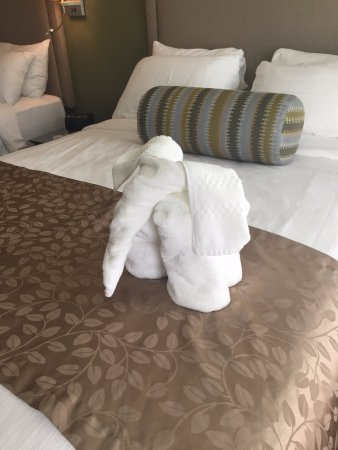 "Plymouth, Kalifornia: The little ""towel elephant"""