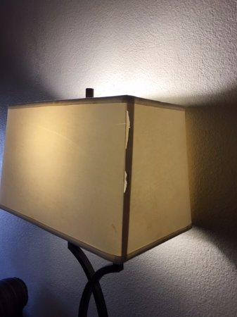 College Park, GA: Worn out lamp