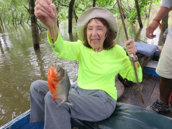 Amazonia Expeditions' Tahuayo Lodge: Fishing for piranha