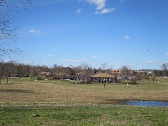 Delanco, Nueva Jersey: Picnic pavilion in the distance
