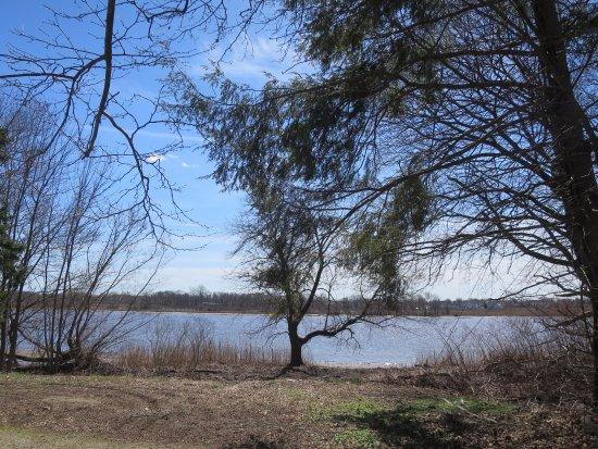 Delanco, Nueva Jersey: View of Rancocas Creek along Newton's Trail