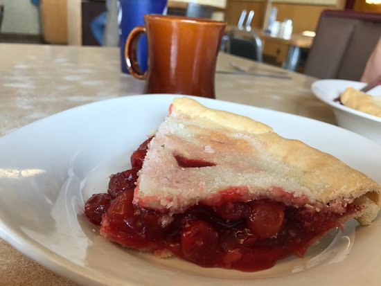 Heyburn, ID: Homemade cherry pie with a sugar crust