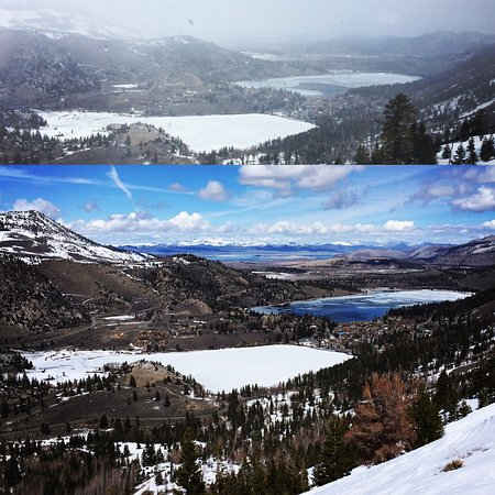 June Lake, CA: Day one - Snow and wind, Day two - Sun sun sun
