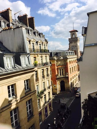 Hotel le Petit Paris: View from fifth floor room's balcony.