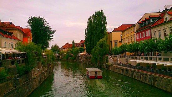 River Ljubljanica Kanal: Узкая, но судоходная.