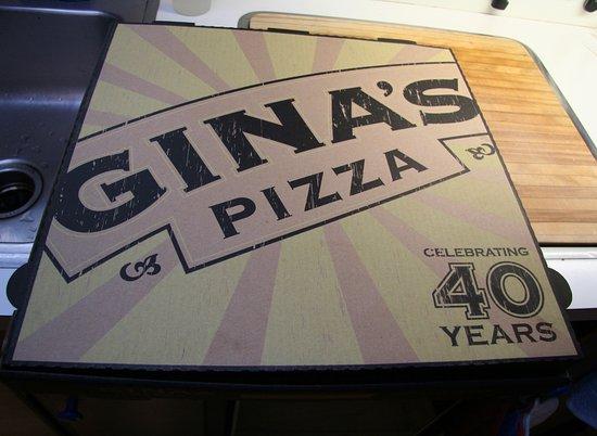 Corona del Mar, CA: Pizza box