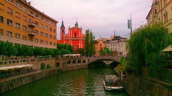 River Ljubljanica Kanal: Тройной мост.