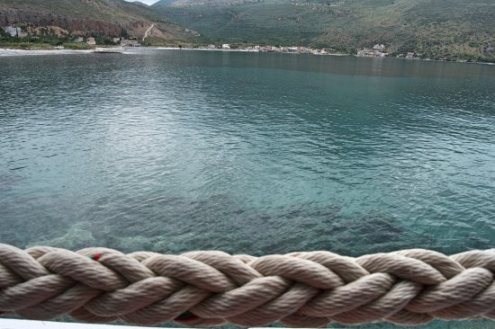 Каравостасис, Греция: the view from my table at Faros