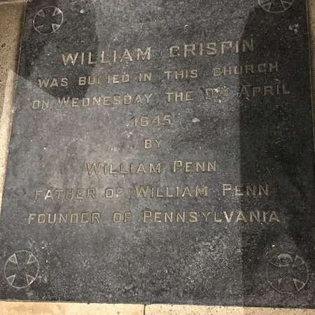 Carrickfergus, UK: William Crispin's grave (Buried by William Penn's Father)