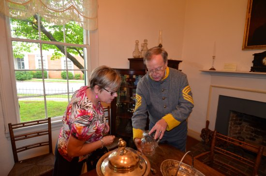 Florence, AL: The engaging docent explained the artifacts to ANita