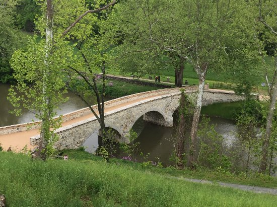 Sharpsburg, MD: Burnside Bridge where many livers were lost trying to cross the bridge.