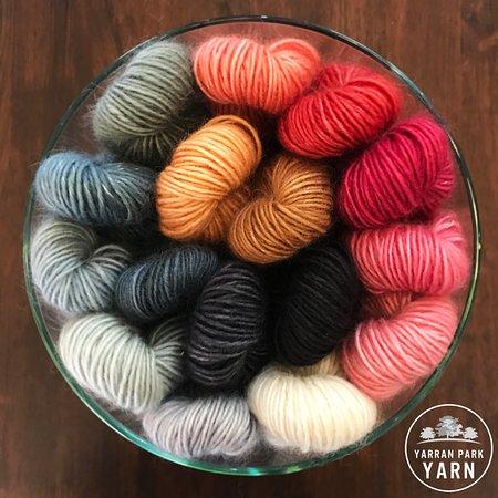 West Wyalong, Australia: Yarn Park Yarn 5 Ply - local fine kid mohair & merino blended with silk from Thailand.