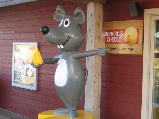 Sturgeon Bay, WI: Renard's mascot by the children's playground