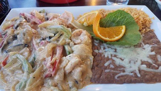 โรสเบิร์ก, ออริกอน: Delicious Camarones Crema