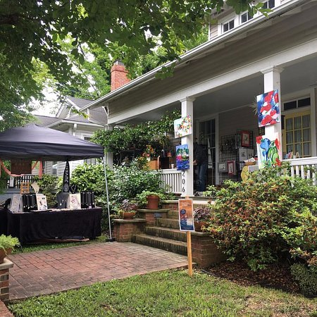Historic Oakwood: This is Franklin Street in Raleigh near the houses of the organizers who are potters.