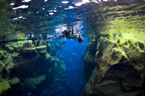 Small-Group Silfra Snorkeling and Lava Caving from Reykjavik