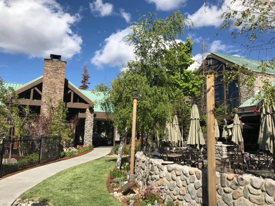 Cottage outside in the woods picture of tenaya lodge at for Hotels near fish camp ca