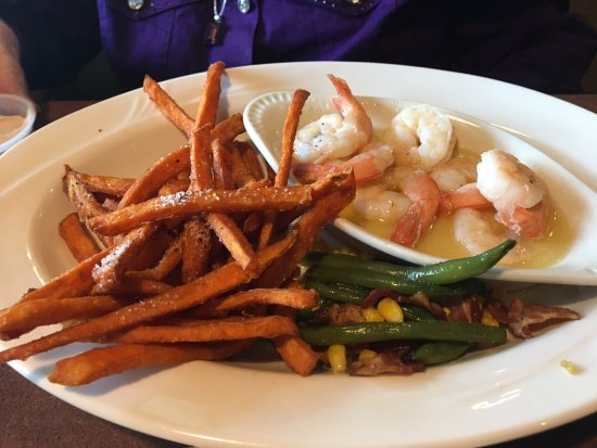 Faribault, MN: broiled shrimp with sweet potato fries