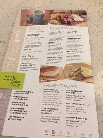 Breakfast Menu Picture Of Even Hotel Rockville Tripadvisor