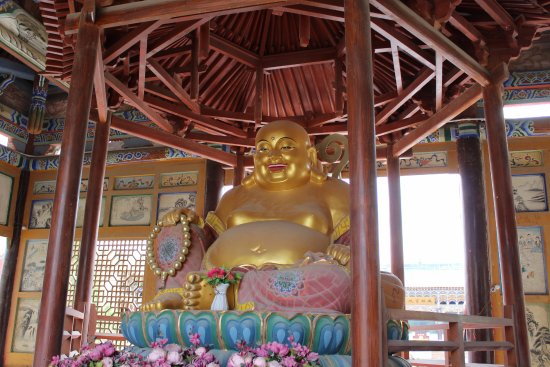 Dunhuang, China: The Buddha statue in the temple