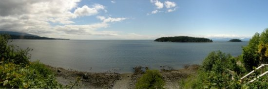 Sechelt, Canadá: Panoramic view from property