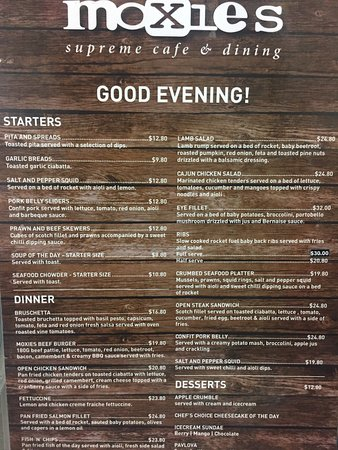 Palmerston North, New Zealand: Breakfast , Brunch and Evening menu