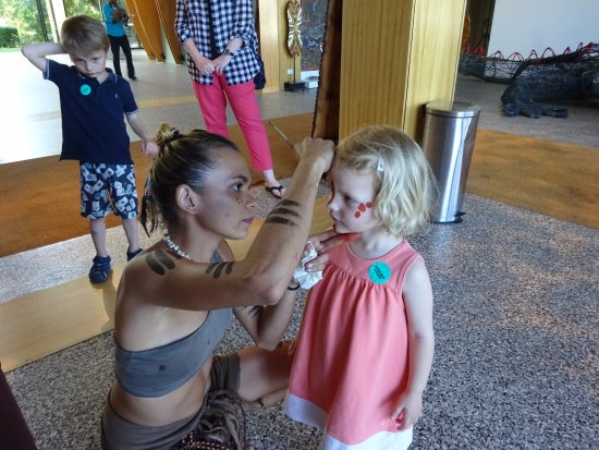 Caravonica, Australia: peinture de princesse aborigène