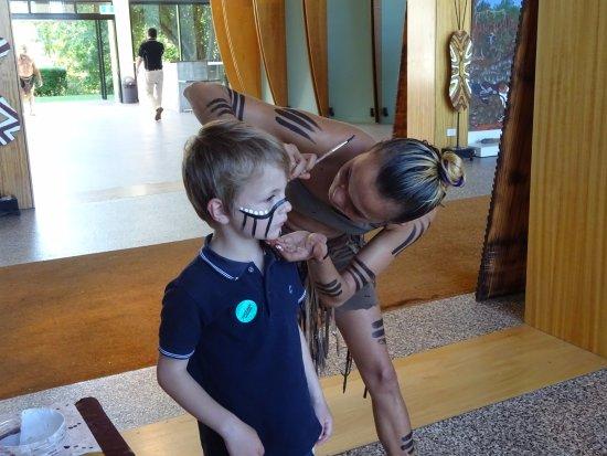 Caravonica, Australia: peinture de guerrier aborigène