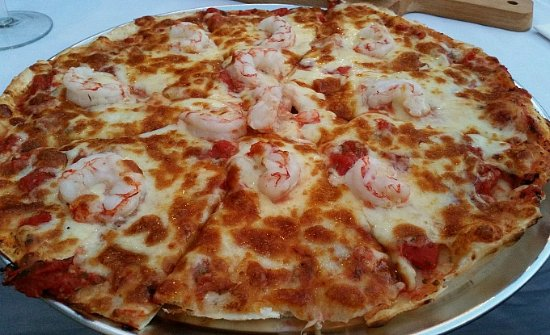 Guildford, Australien: Prawn Pizza