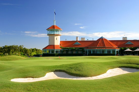 Terrey Hills, Australia: Wide terraces overlook our championship golf course from the Wisteria Restaurant