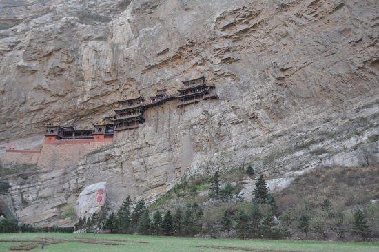 Datong, China: Monastère suspendu Xuankong Si