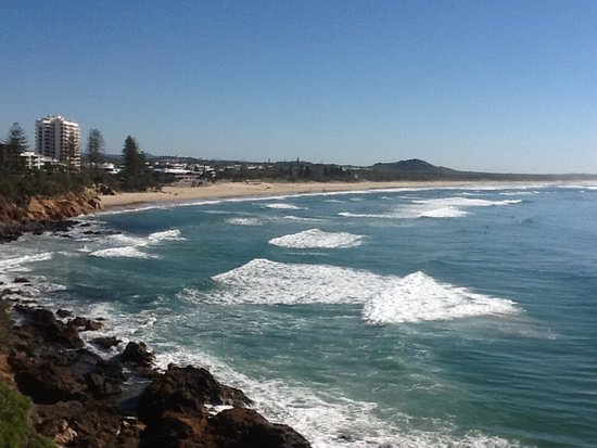 Coolum Beach, أستراليا: Coolum Beach from the lookout south side