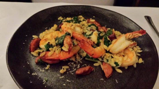 "Lyndoch, Australia: ""Prawn Star"" $19 entree, $39 main from menu (some has been eaten!)"