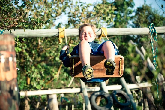 Chintsa, Afrique du Sud : jungle gym for kids!