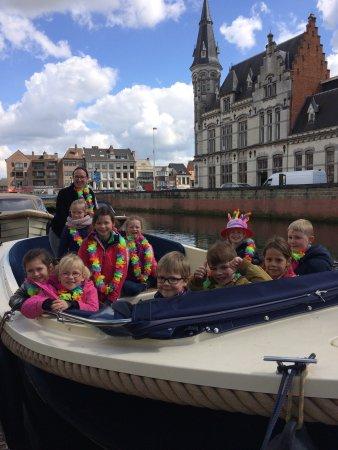 Lokeren, Bélgica: Comfortabele boten om zelf mee te varen