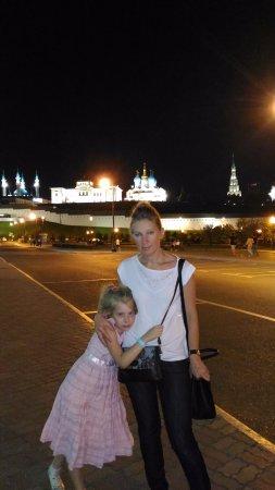 Казанский Кремль: Очень красивый ночной Кремль, фото от Дворца Земледельцев