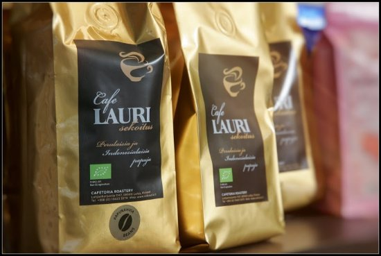 Lohja, Suomi: Cafe Lauri`s own coffee blend