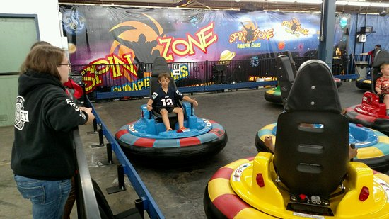 Mooresville, NC: Cooper doing the bumper cars