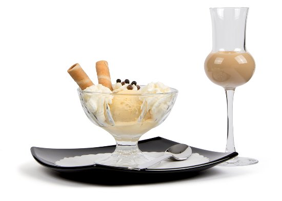 Nice Cream Ice & Cafe : Glace mit Liqueur